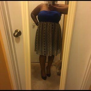 Lightweight strapless dress